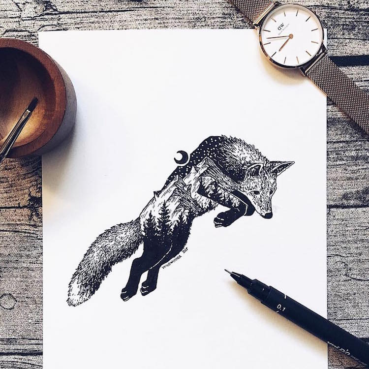 Stippling Nature Art