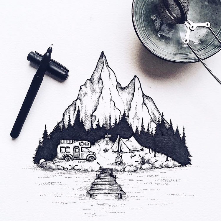 Stippling-Nature-Art