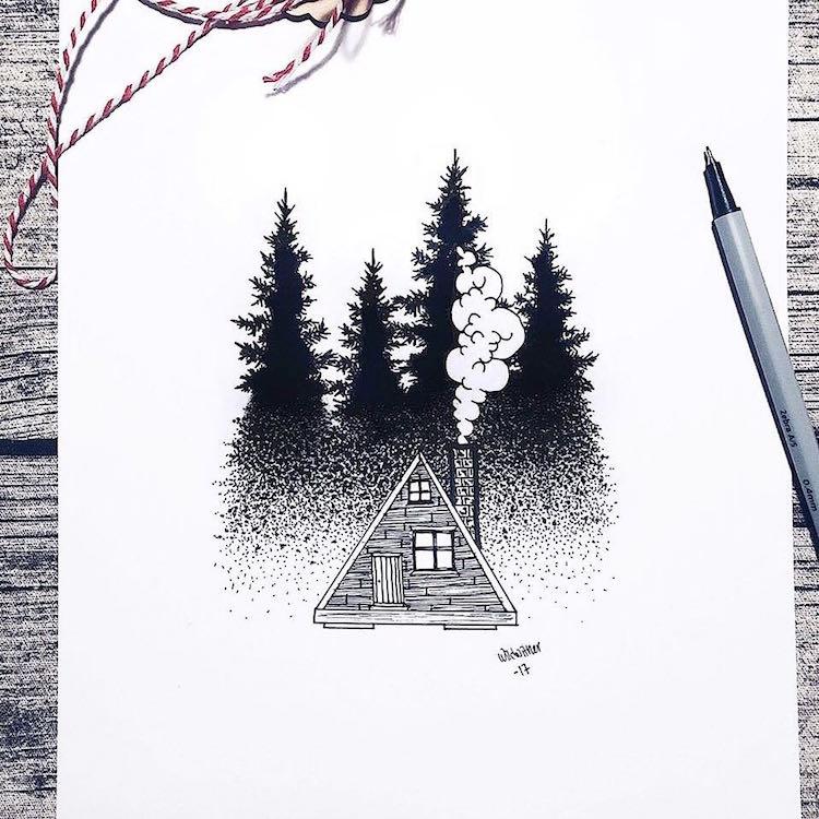 Stippling Nature Art