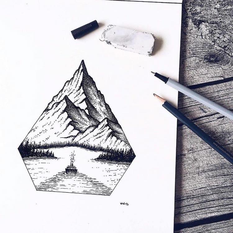Stippling-Nature-Art