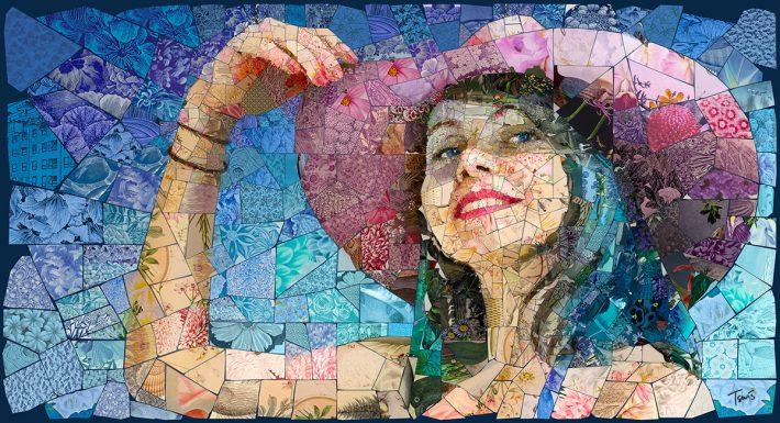 Awesome Digital Mosaic Illustration