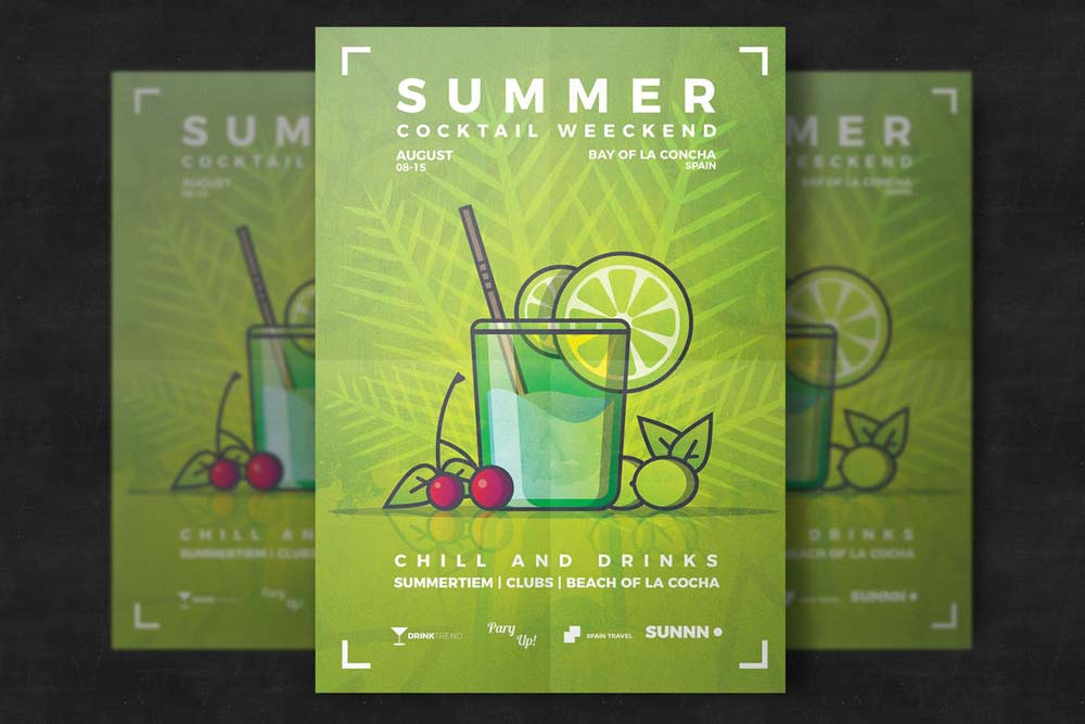 Summer Cocktail Flyer Template