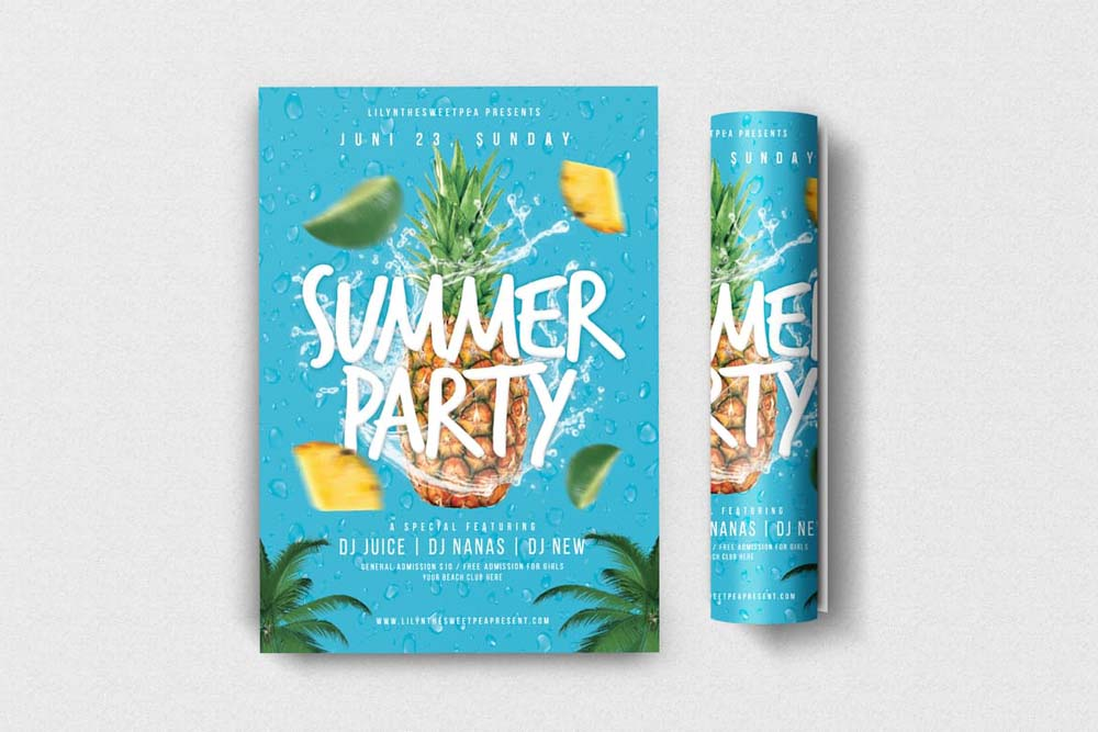 Best Summer Party Flyers for Advertising