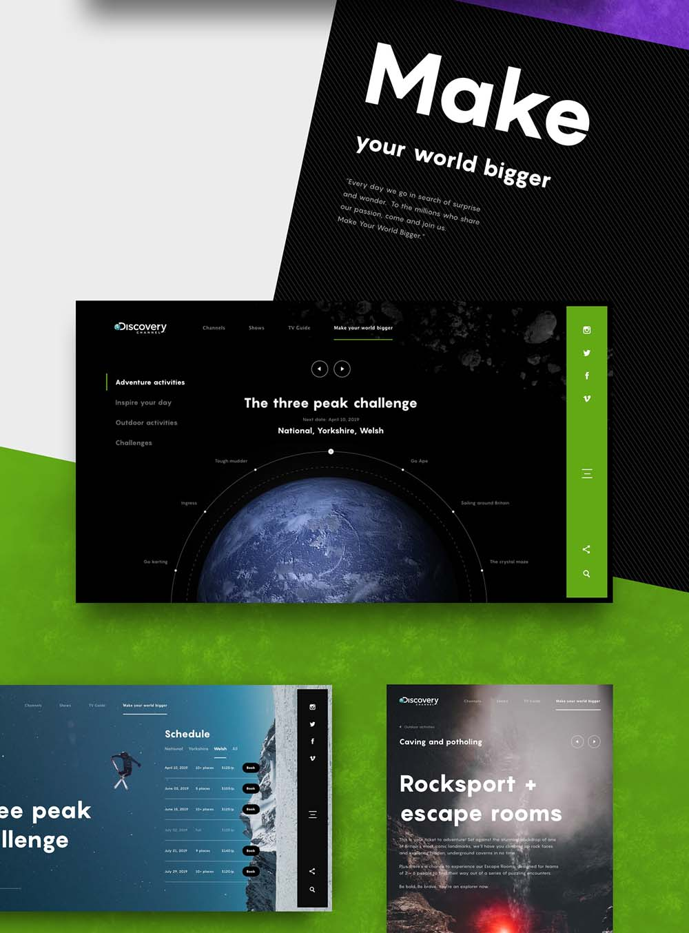 Discovery Channel Web Design Concept