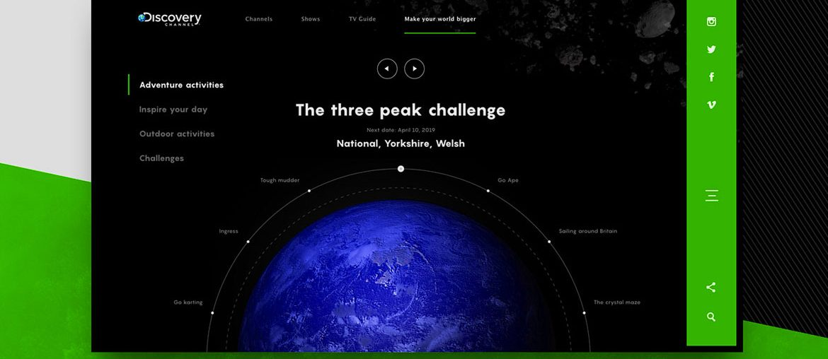 Animated Web Design Concept of Discovery Channel