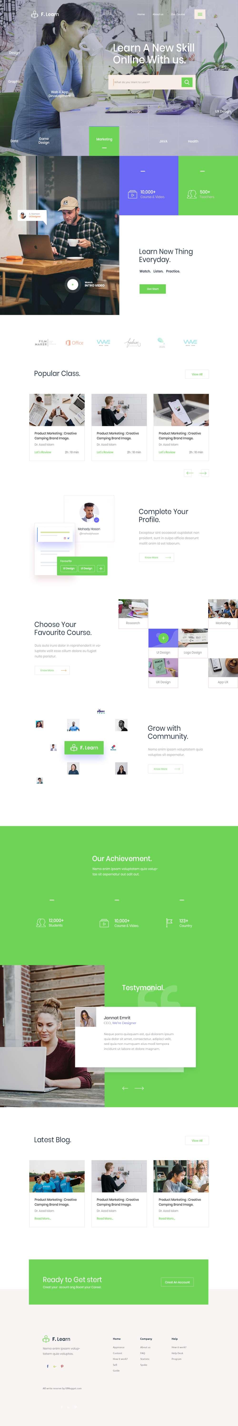 Online Learning Web Design Inspiration