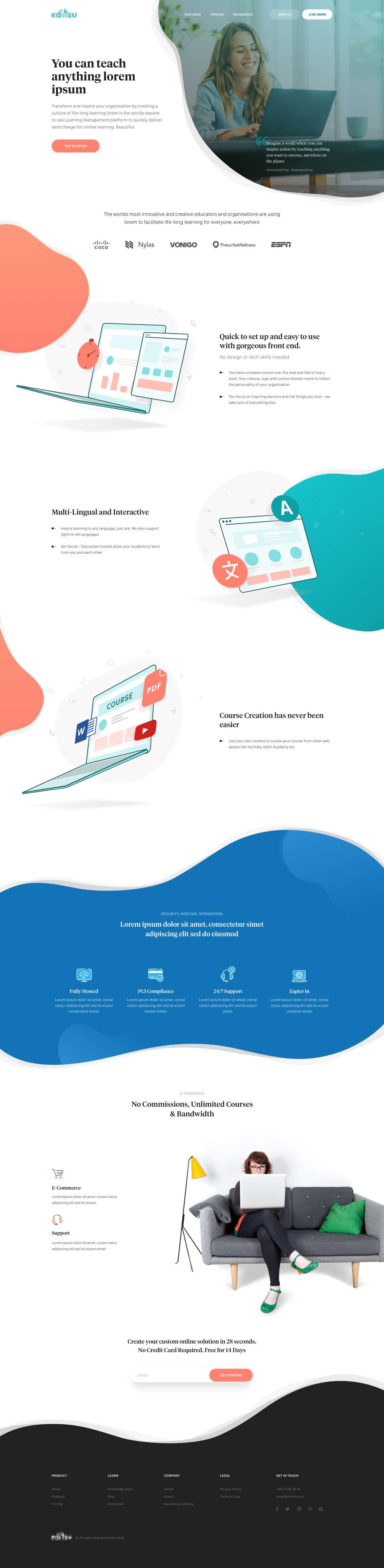 Beautiful Education Web Design Inspiration