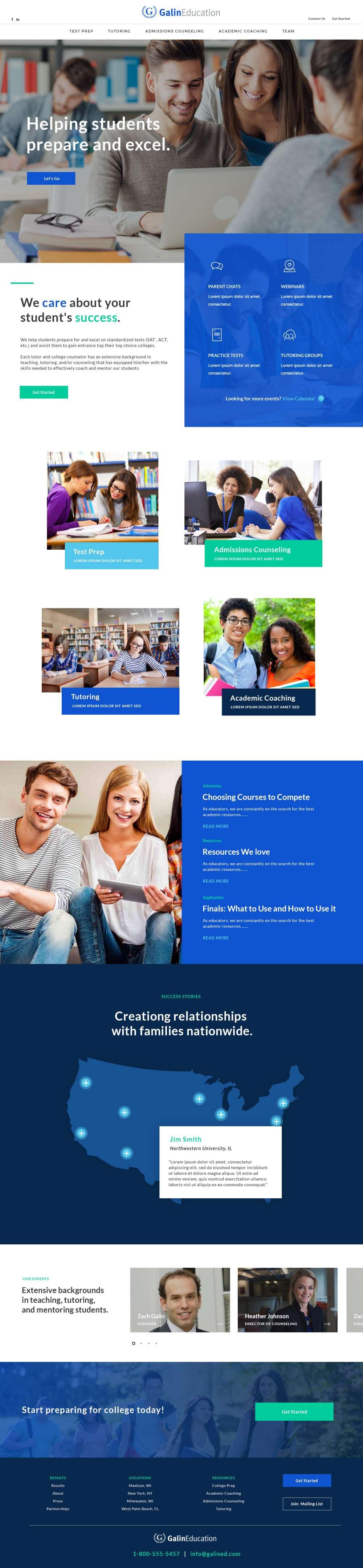 Education Web Design Inspiration