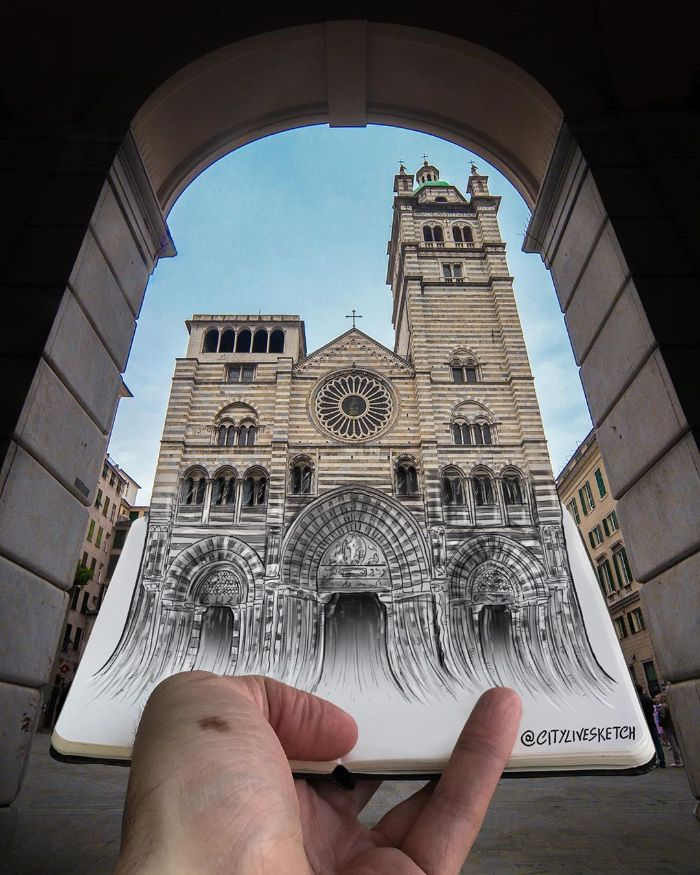 Mind-Bending Photos Joining Together Drawings with Reality