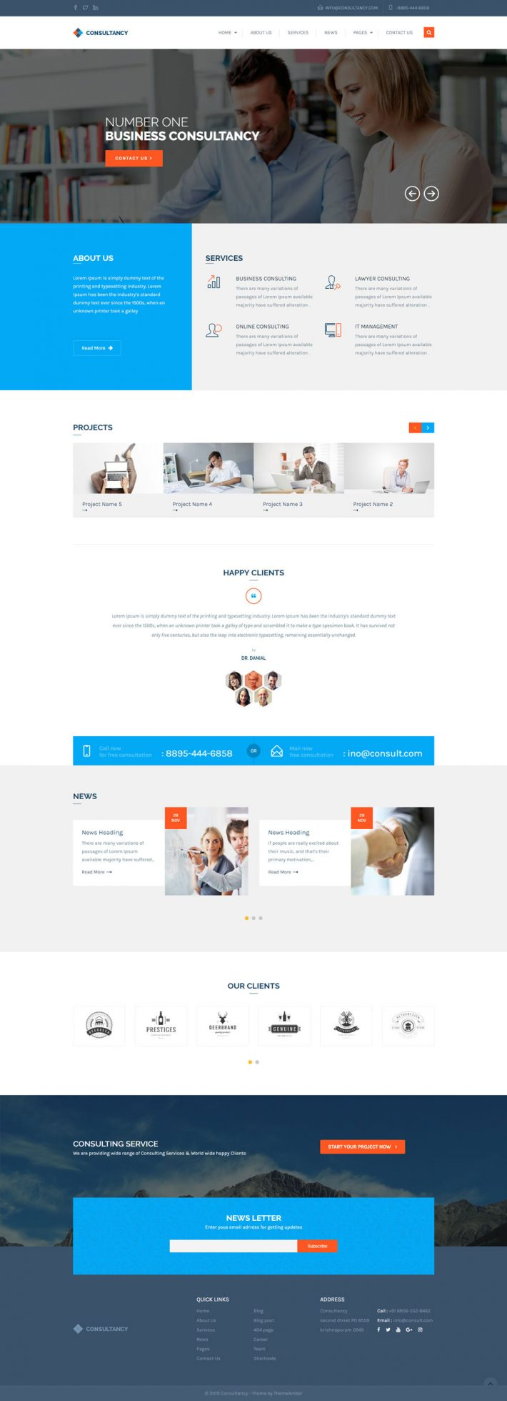 Consultancy & Business WordPress theme