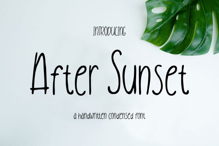 After Sunset Free Font