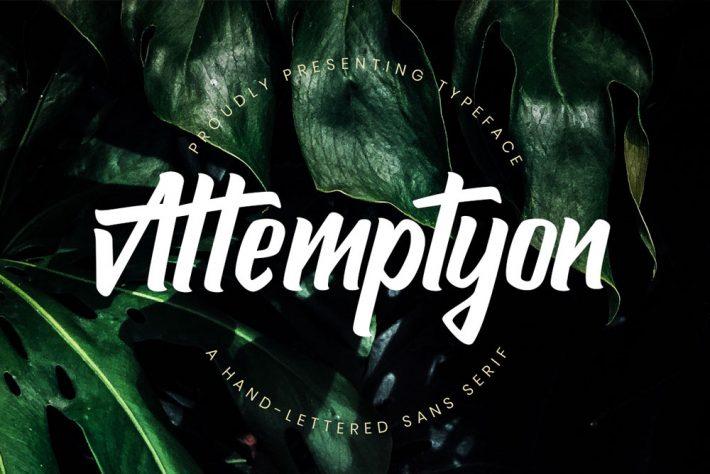 Attemptyon Sans Serif Free Fonts for Designers