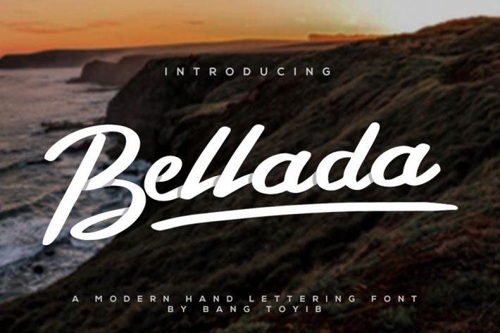 Bellada Script Free Fonts for Designers