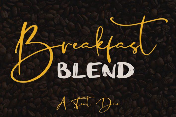 Breakfast Blend Brush Free Fonts for Designers
