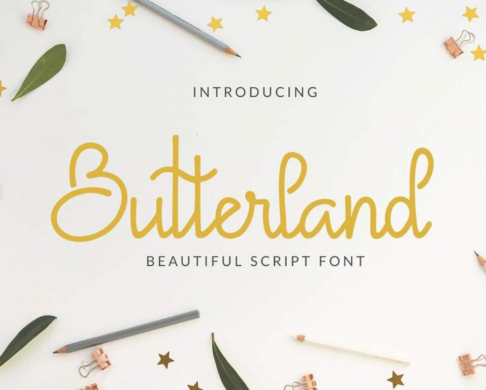 Free Butterland Script Free Fonts for Designers