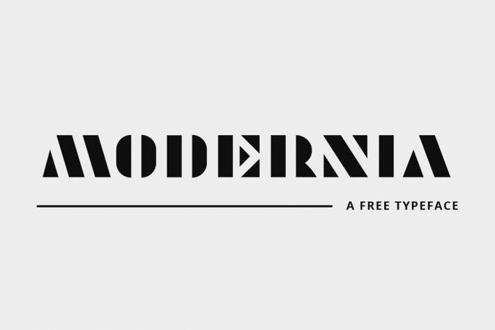Modernia Geometric Font