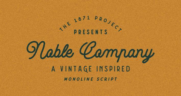 Noble Company - Free Monoline Script Font