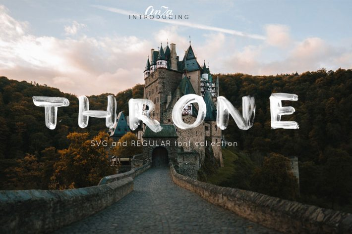THRONE - SVG and regular OTF Free Fonts for Designers