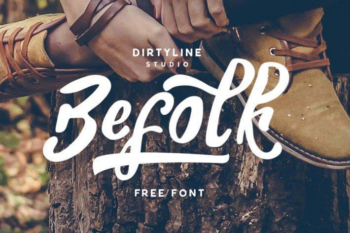 Befolk Script Free Font