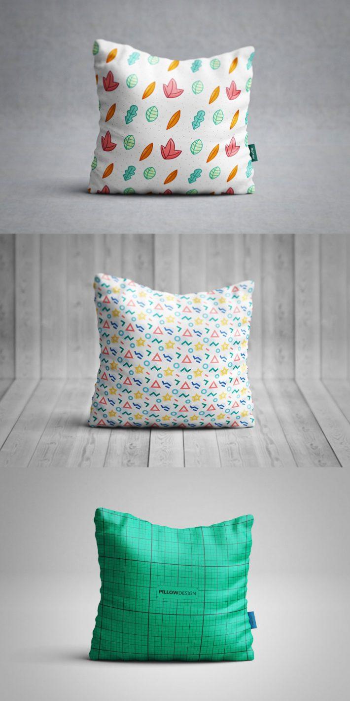 Square Pillow Mockup PSD