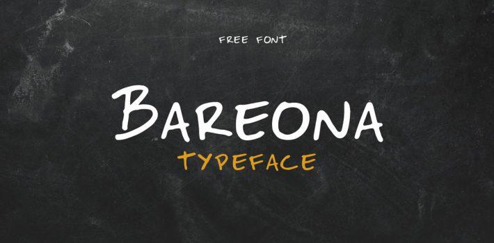 Bareona – Free Handwritten Display Typeface