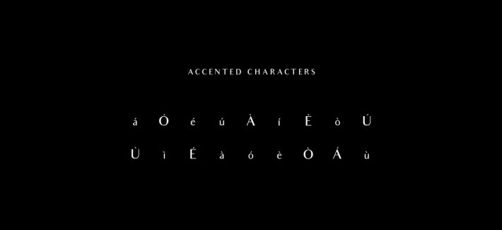 Accented Characters Audrey Font