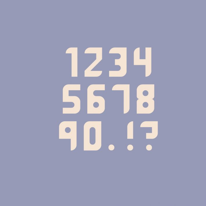 Maddac Font Numbers