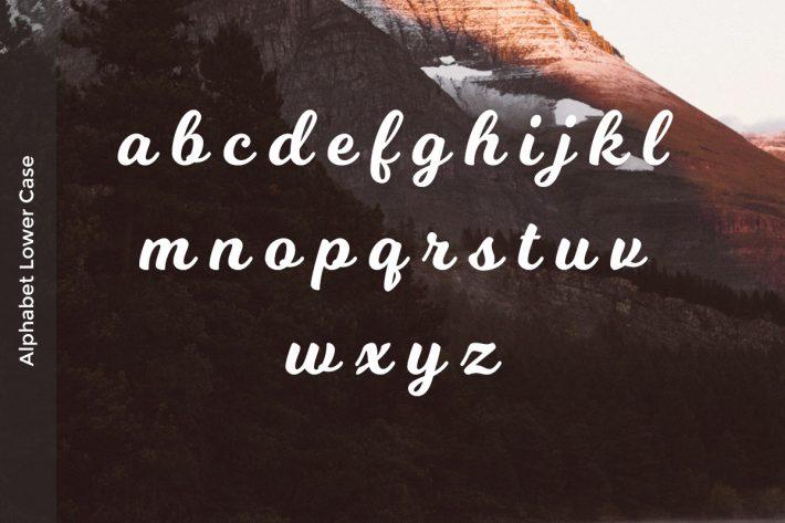 Milkshake Font Lower case