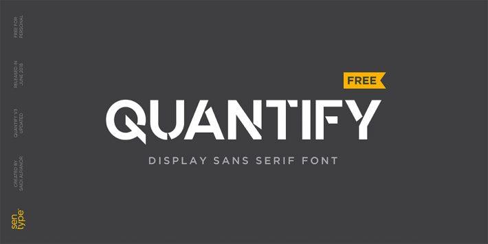 Quantify V3 - Free Display Sans Serif Font